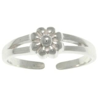 Sterling Silver Spring Flower Toe Ring