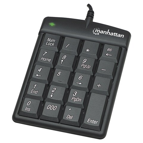 Manhattan USB Numeric Keypad with 18 Full-size keys
