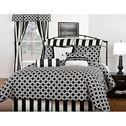 Corinth Black and White 7-piece Comforter Set - Thumbnail 0