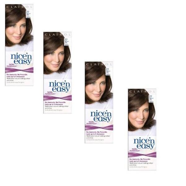 UK LovingCare Nice 'n Easy #77 Medium Ash Brown Hair Color (Pack of 4)