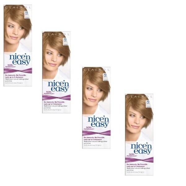 UK Loving Care Clairol Nice 'n Easy #70 Beige Blonde Hair Color (Pack of 4)