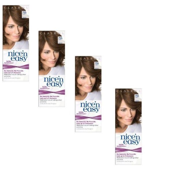 UK Loving Care Nice 'n Easy #755 Light Brown Hair Color (Pack of 4)