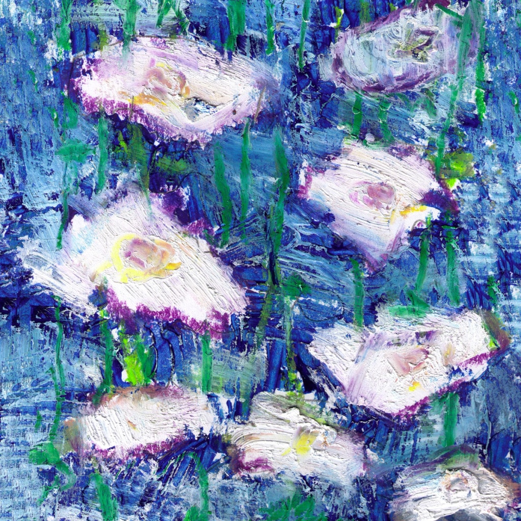 """Ankan 'On Blue' Gallery-Wrapped Canvas Art (36"""" by 36"""")"""