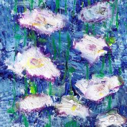 Ankan 'On Blue' Gallery-wrapped Canvas Art