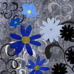 Ankan 'Blue Touch' Large Gallery-Wrapped Canvas Art