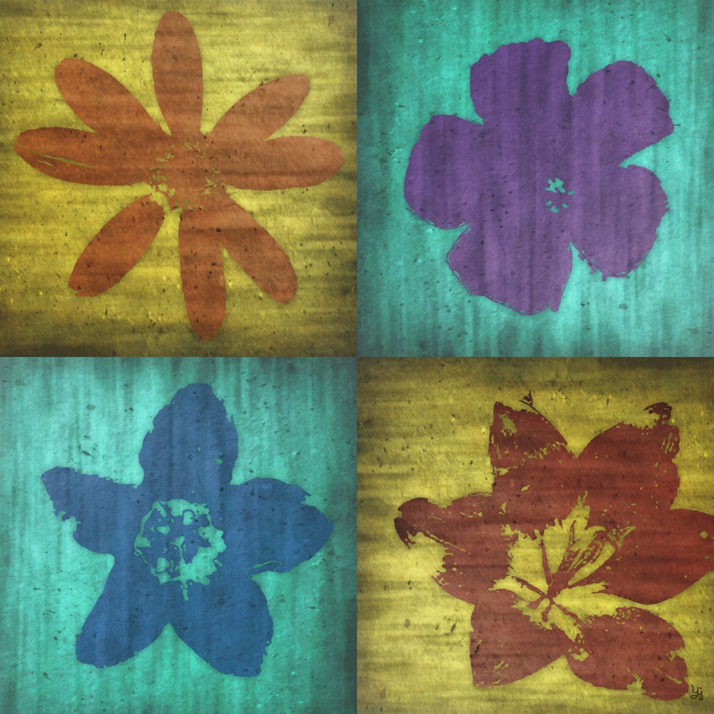 Ankan 'Flowers Game 1' Gallery-wrapped Canvas Art