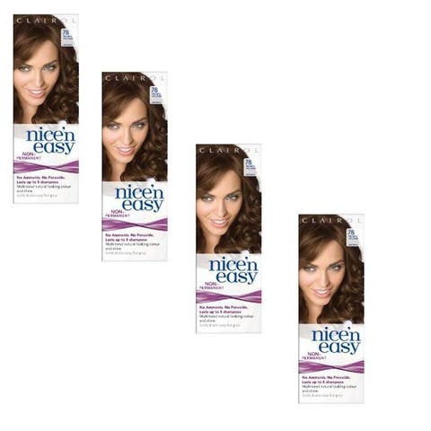UK Loving Care Clairol Nice 'n Easy #78 Medium Golden Brown Hair Color (Pack of 4)