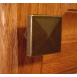 GlideRite Square Pyramid Antique Brass Cabinet Knobs (Pack of 10) - Thumbnail 1