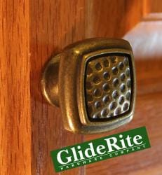 GlideRite Square Antique Brass Cabinet Knobs (Pack of 10)