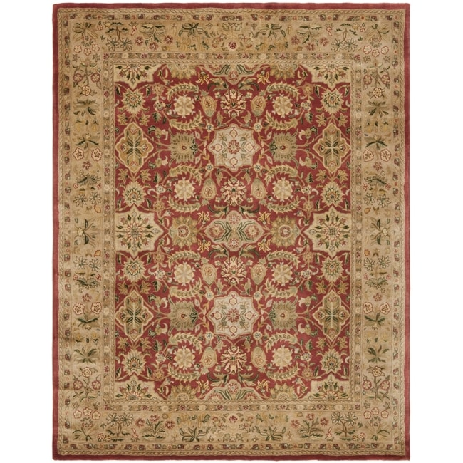 Safavieh Handmade Persian Legend Red/Ivory Wool Area Rug - 6' x 9'