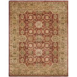 Safavieh Handmade Persian Legend Red/Ivory Wool Area Rug (6' x 9') - Thumbnail 0