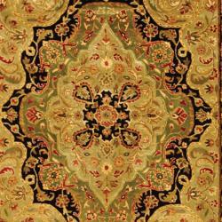 Safavieh Traditional Handmade Persian Legend Soft Green/Ivory Wool Rug (5' x 8') - Thumbnail 2