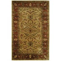 Safavieh Handmade Persian Legend Gold/ Rust Wool Rug - 5' x 8'