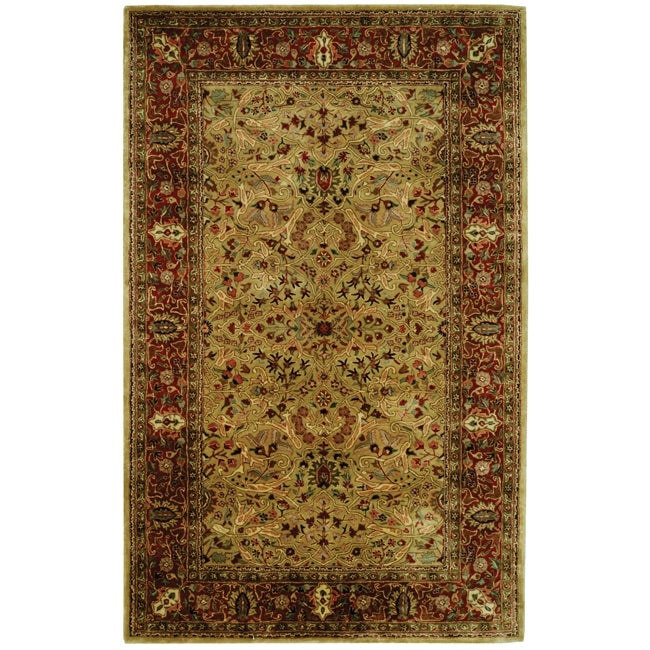 Safavieh Handmade Persian Legend Gold/ Rust Wool Rug (6' x 9')