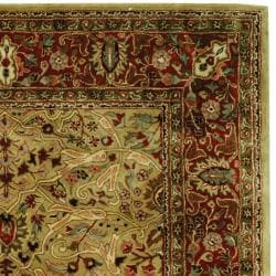 Safavieh Handmade Persian Legend Gold/ Rust Wool Rug (6' x 9') - Thumbnail 1