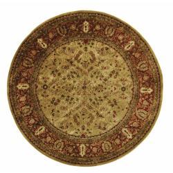 Safavieh Handmade Persian Legend Gold/ Rust Wool Rug (6' Round)