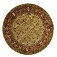 Safavieh Handmade Persian Legend Gold/ Rust Wool Rug - 8' x 8' Round