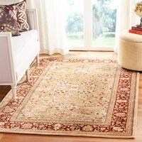 Safavieh Handmade Persian Legend Ivory/Rust Wool Area Rug - 4' x 6'