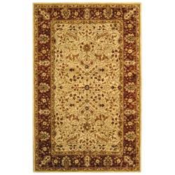 Safavieh Handmade Persian Legend Ivory/ Rust Wool Rug (5' x 8')