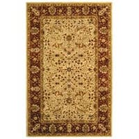 Safavieh Handmade Persian Legend Ivory/Rust Wool Area Rug - 6' x 9'