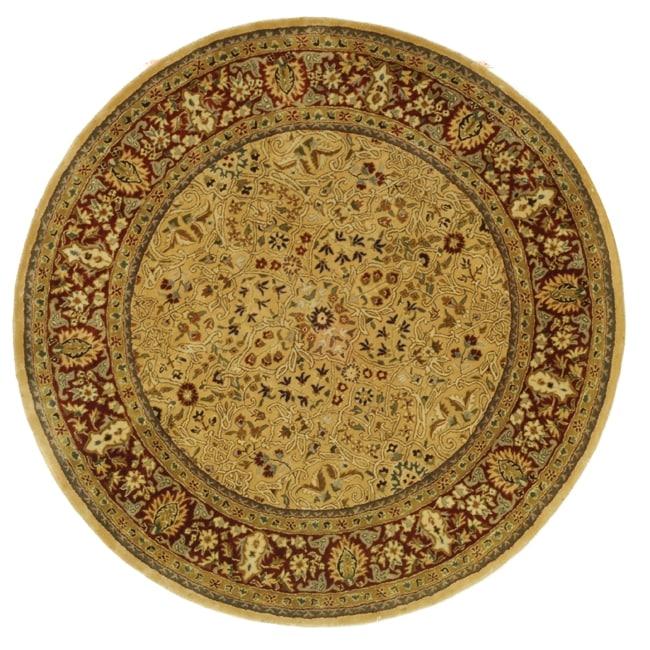 Round Wool Persian Rug: Shop Safavieh Handmade Persian Legend Ivory/ Rust Wool