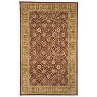 Safavieh Handmade Persian Legend Red/ Light Brown Wool Rug - 4' x 6'