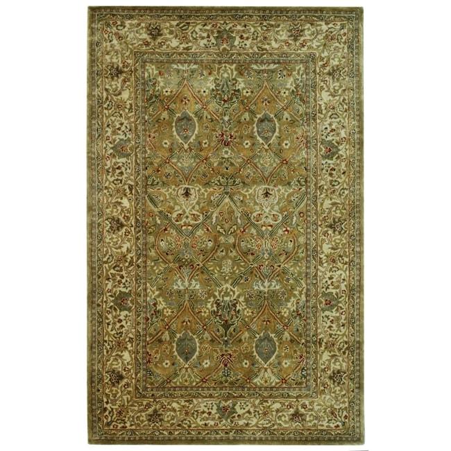 Safavieh Handmade Persian Legend Light Green/ Beige Wool Rug (5' x 8')