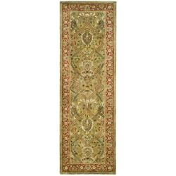 Safavieh Handmade Persian Legend Light Green/ Rust Wool Rug (2'6 x 12')