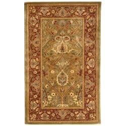 Safavieh Handmade Persian Legend Light Green/ Rust Wool Rug (2'6 x 4')