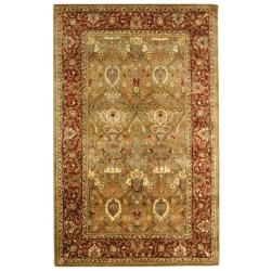 Safavieh Handmade Persian Legend Light Green/ Rust Wool Rug (5' x 8')