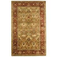 Safavieh Handmade Persian Legend Light Green/ Rust Wool Rug (5' x 8')