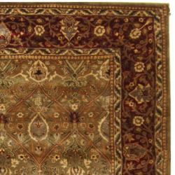 Safavieh Handmade Persian Legend Light Green/ Rust Wool Rug (8' x 10')