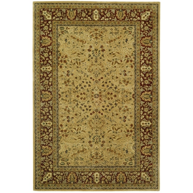 Shop Safavieh Handmade Persian Legend Ivory Rust Wool Area: Shop Safavieh Handmade Persian Legend Ivory/ Rust Wool Rug