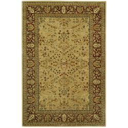 Safavieh Handmade Persian Legend Ivory/ Rust Wool Rug (4' x 6')