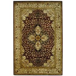 Safavieh Handmade Persian Legend Red/ Beige Wool Rug (6' x 9')