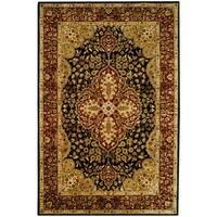 Safavieh Handmade Persian Legend Black/ Red Wool Rug - 6' x 9'
