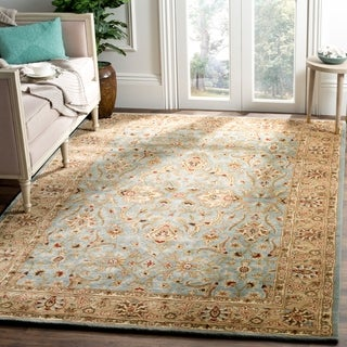 Safavieh Handmade Persian Legend Blue/ Gold Wool Rug (5' x 8')