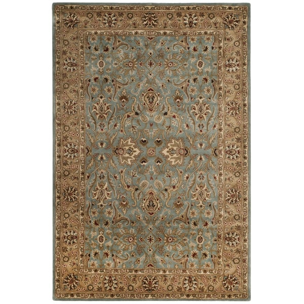 Safavieh Handmade Persian Legend Blue/ Gold Wool Rug (6' x 9')