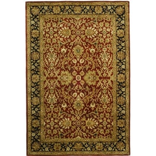 Safavieh Handmade Persian Legend Rust/ Black Wool Rug (6' x 9')