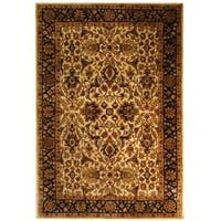 Safavieh Handmade Persian Legend Ivory/ Black Wool Rug - 5' x 8'