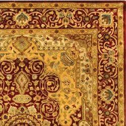 Safavieh Handmade Persian Legend Burgundy Wool Rug (9'6 x 13'6) - Thumbnail 1