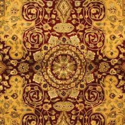 Safavieh Handmade Persian Legend Burgundy Wool Rug (9'6 x 13'6) - Thumbnail 2