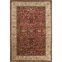Safavieh Handmade Persian Legend Red/ Ivory Wool Rug (6' x 9')