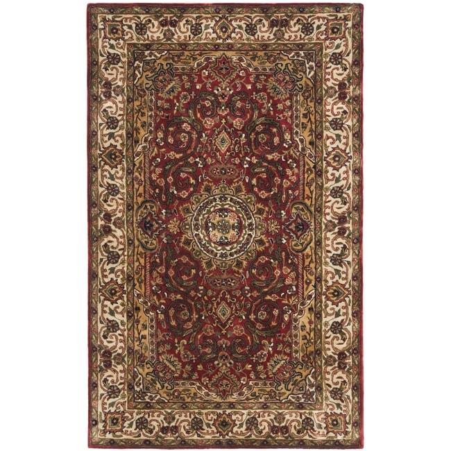 Safavieh Handmade Persian Legend Red/Ivory Wool Oriental Rug - 4' x 6'