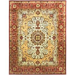 Safavieh Traditional Handmade Persian Legend Ivory/Rust Wool Rug (6' x 9')
