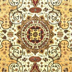 Safavieh Handmade Persian Legend Ivory/ Rust Oriental Wool Rug (7'6 x 9'6) - Thumbnail 2
