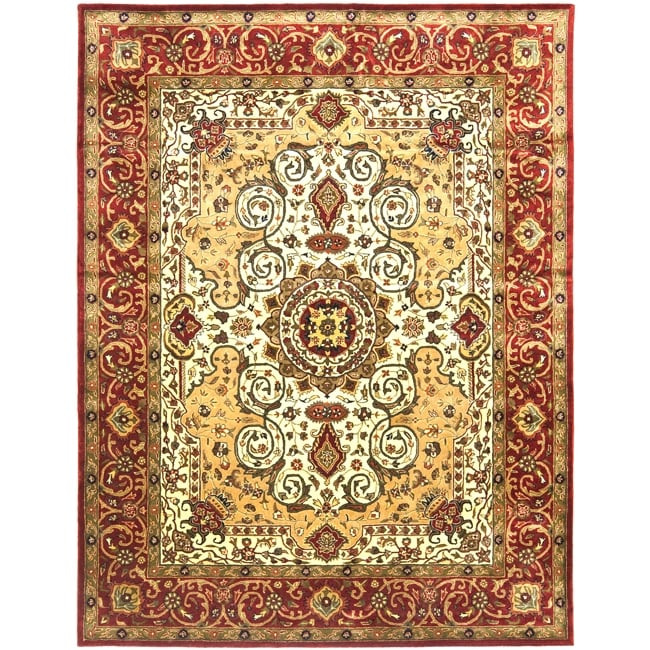 Safavieh Traditional Handmade Persian Legend Ivory/Rust Wool Rug - 8'3' x 11'