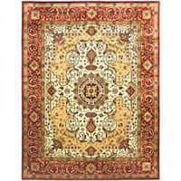 Safavieh Traditional Handmade Persian Legend Ivory/Rust Wool Rug - 8'3' x 11'