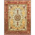 "Safavieh Traditional Handmade Persian Legend Ivory/Rust Wool Rug (8'3"" x 11') - 8'3 x 11'"
