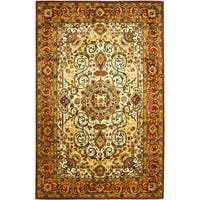 "Safavieh Traditional Handmade Persian Legend Ivory/Rust Wool Rug - 8'3"" x 11'"